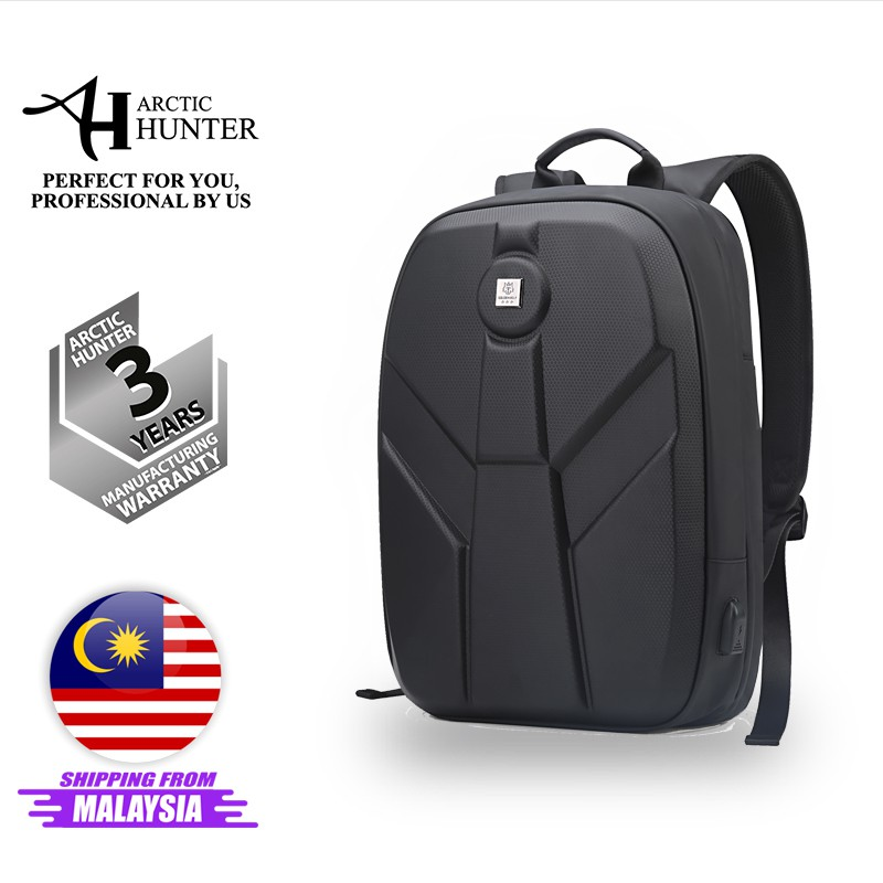 "Arctic Hunter i-Titanium Backpack Anti-Theft Laptop Backpack Hard Case Waterproof Multi-Function USB Charging (15.6"")"