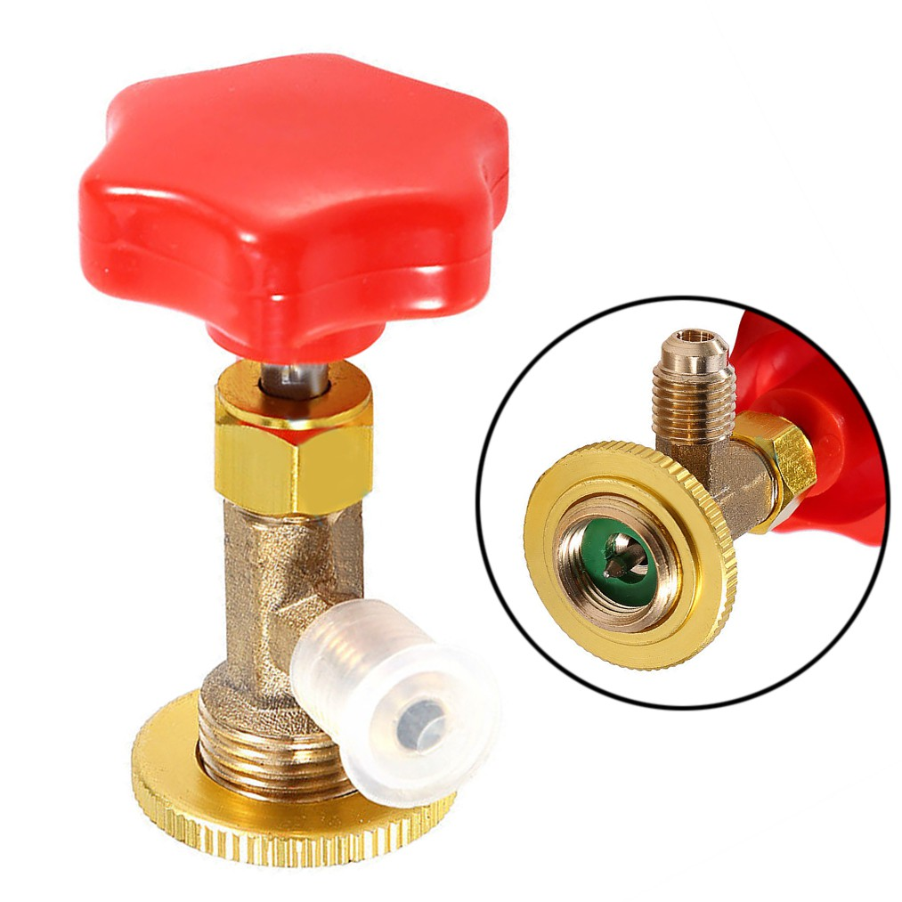 Car Air Conditioning Refrigerant Can Tap Valve Nickle Plated Bottle Opener Tool