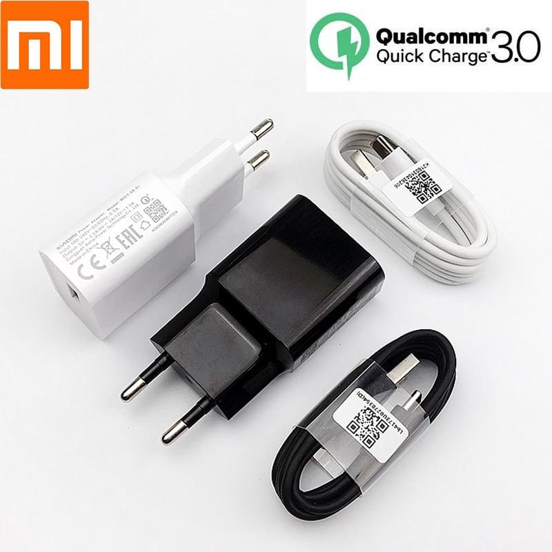 Original Xiaomi EU Fast Charger QC 3.0 Quick Charge adapter 18W For mi 8 9 9t 9se cc9 mi a3 a2 redmi note 7 pro Type c | Shopee Malaysia