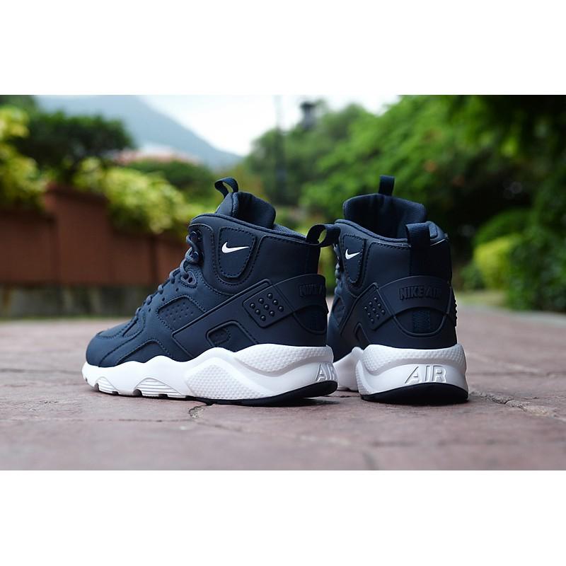 Nike Air Huarache High Dark Blue White