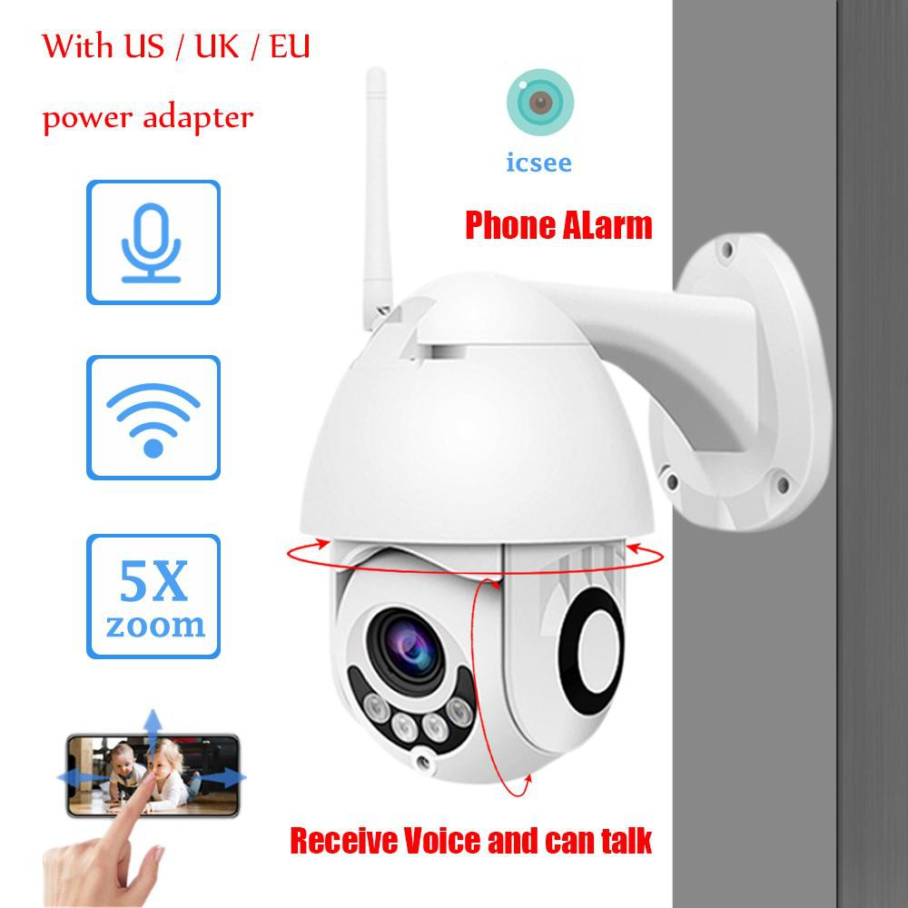 ICSEE APP IR CUT Rotate Night Vision Full HD 1080P IP Camera WIFI &  Wireless Onvif NVR H 264 PTZ Outdoor CCTV Speed Dome
