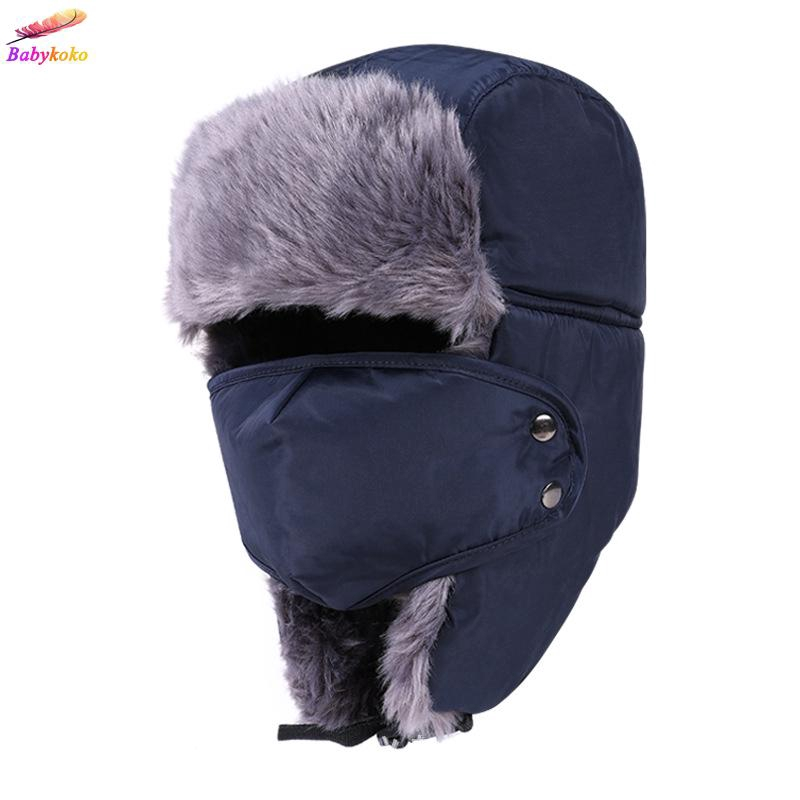 6a523ea9528910 ProductImage. ProductImage. Fashion Men Women Winter Trapper Aviator  Trooper Earflap Warm Ski Hat ...