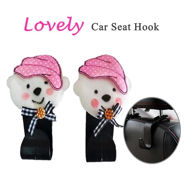 MALAYSIA: 2PCS/SET PENGANTUNG KERETA / PENYANGKUT KERETA / Lovely Car Seat Hook