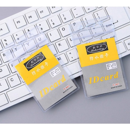 Transparent ID Card Holders Plastic With Steel Clamp