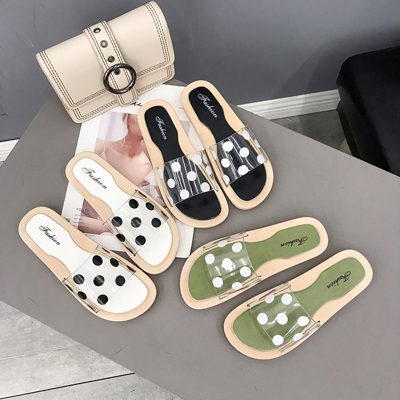 Korean Flat Bottom Casual Student Sandals Summer New Korean Version Cool Slippers Sweet Anti skid Sandals Slippers Girl