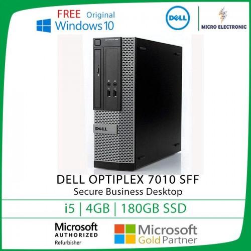 Dell Optiplex 7010 SFF Desktop i5 4GB 180GB SSD Windows 10 [Refurbished]