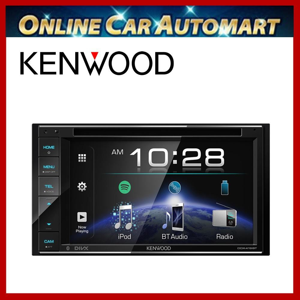 KENWOOD DDX419BT AV Receiver with 6.2inch WVGA Clear-coated Display
