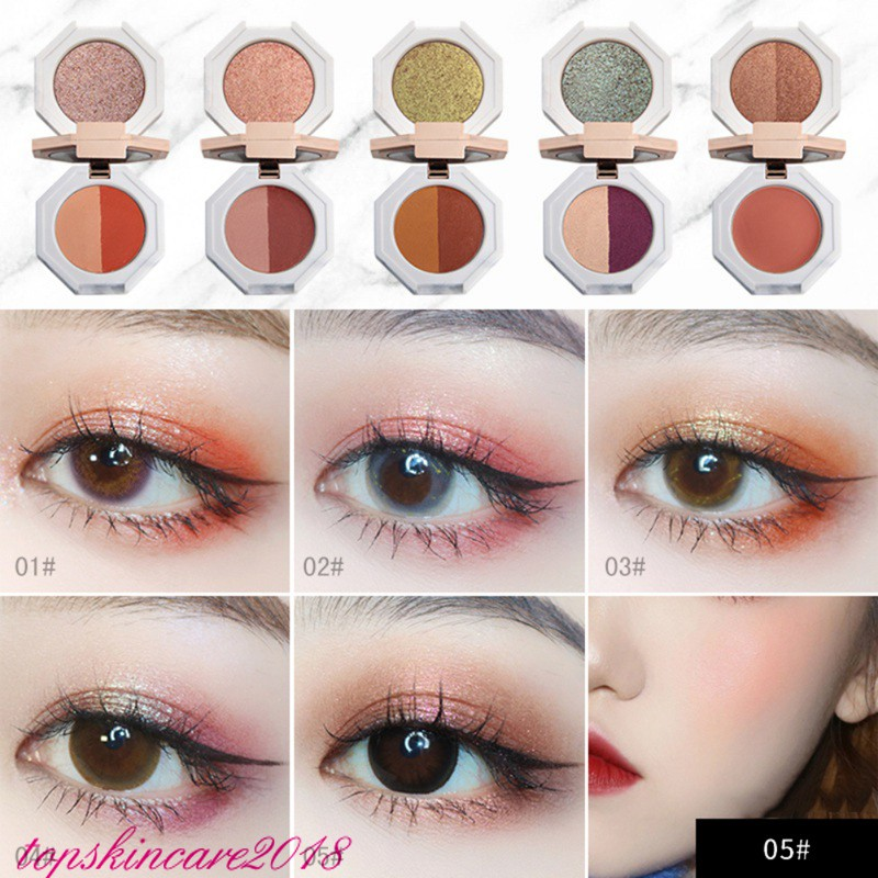 Long-lasting And Waterproof Eye Cosmetic Double Layer Eye Shadow Palette