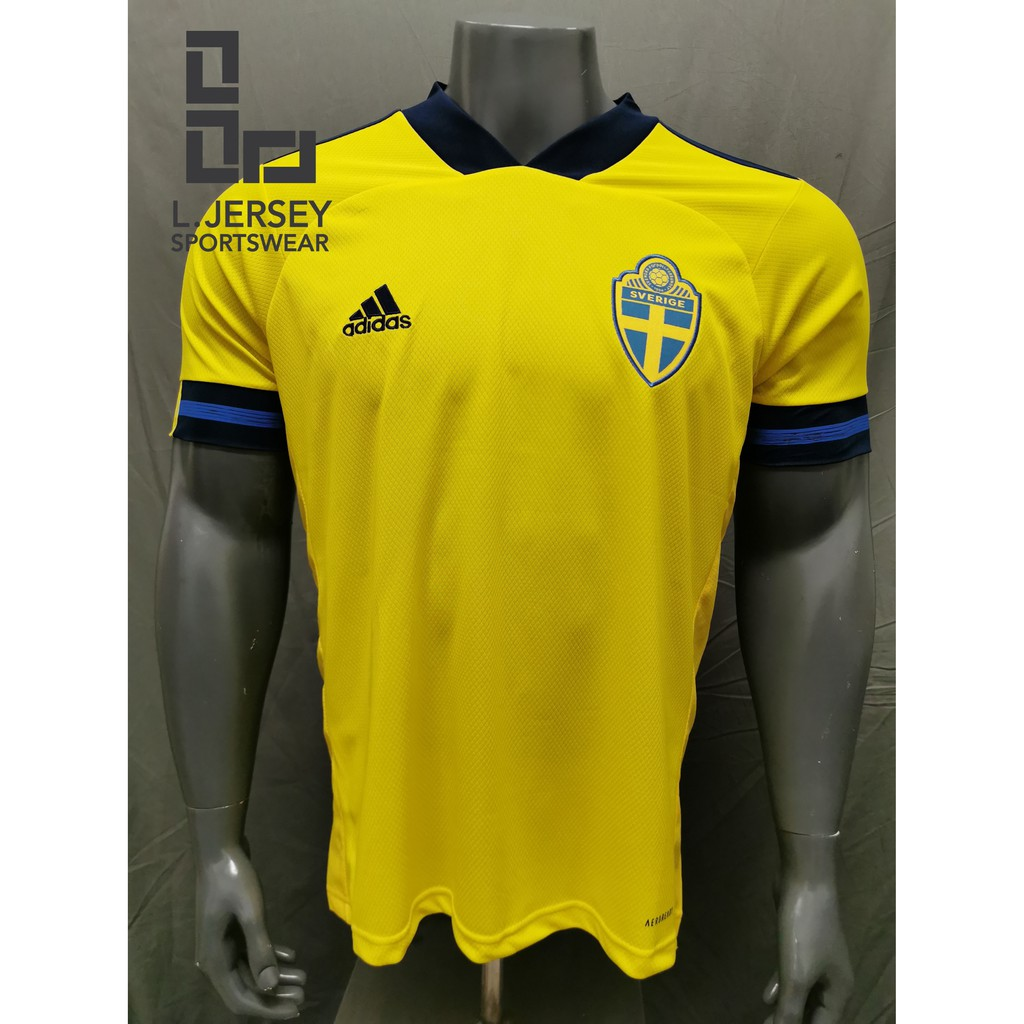 Sweden Men Home Euro Cup Season 20/21 CLIMALITE Fans Jersey
