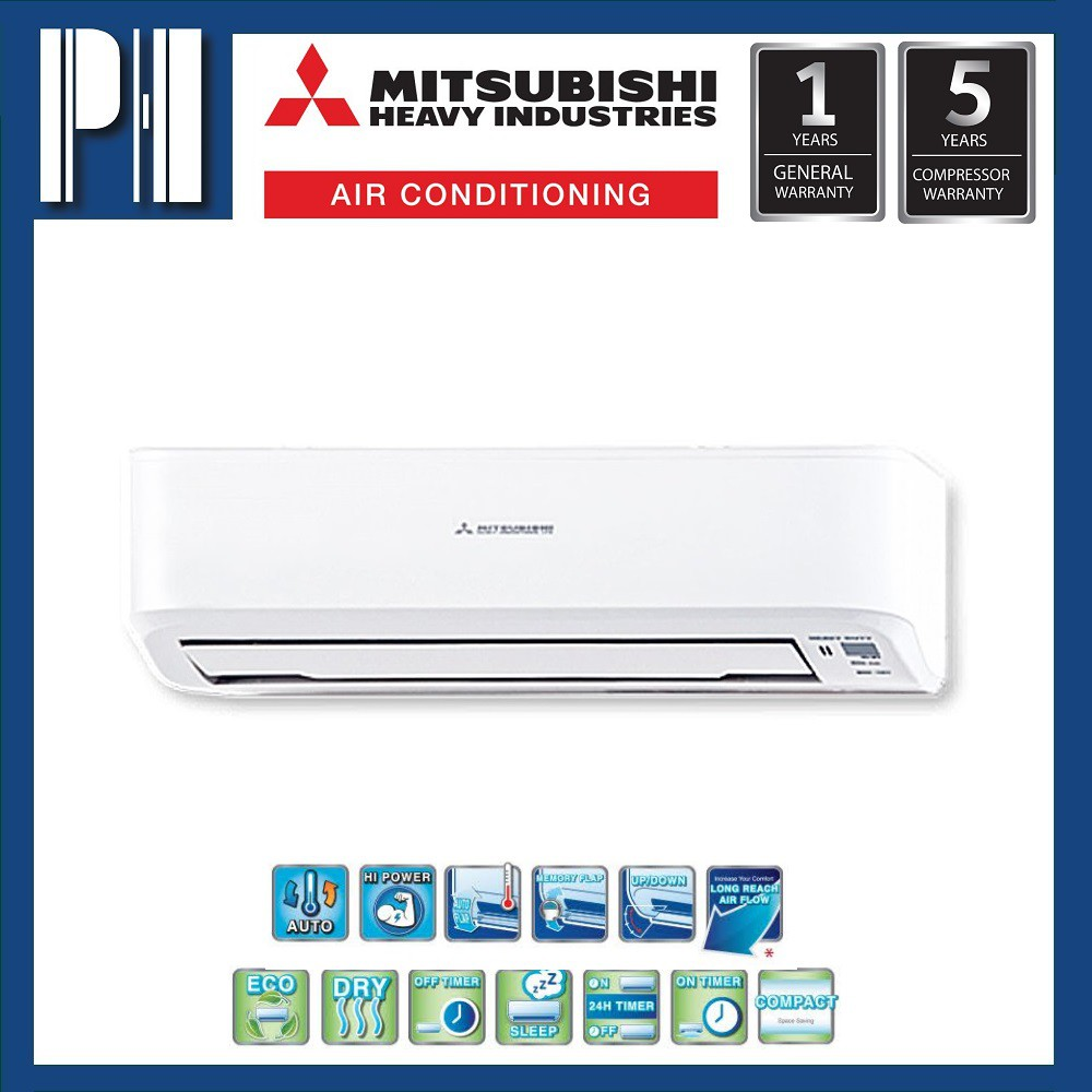 MITSUBISHI HEAVY INDUSTRIES SRK12CR-S4 1.5HP R410a NON-INVERTER AIR CONDITIONER