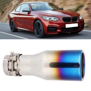 Exhaust Pipe Muffler End Tip Tailpipe for 63mm 89mm Qii lu Stainless Steel/&Carbon Fiber Car Exhaust Pipe