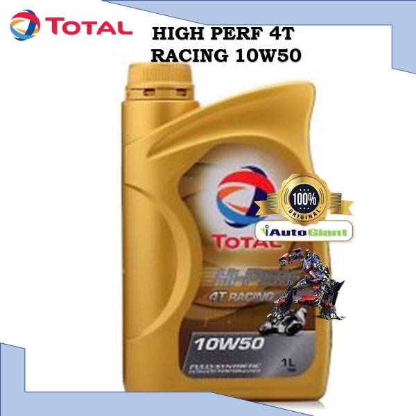 TOTAL HI PERF 4T RACING 10W50, 1L - (100% ORIGINAL)**MINYAK HITAM** OFFER