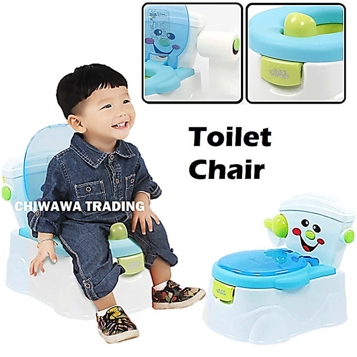 Children Baby Toilet Potty Seat Sit Bath Shower Chair Foldable with Backrest