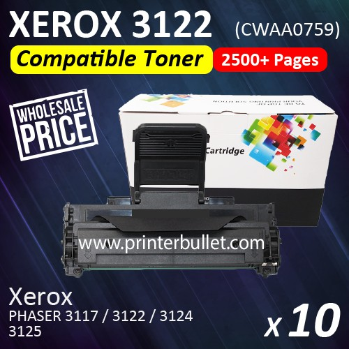 10 unit Fuji Xerox 3122 Compatible Laser Toner Cartridge