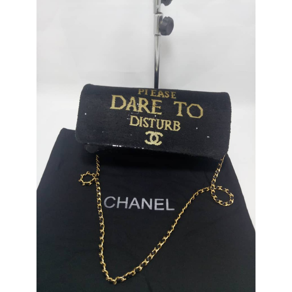 4a016d7653c5 Authentic Chanel VIP GIFT Crossbody Clutch Shoulder Velvet bag | Shopee  Malaysia