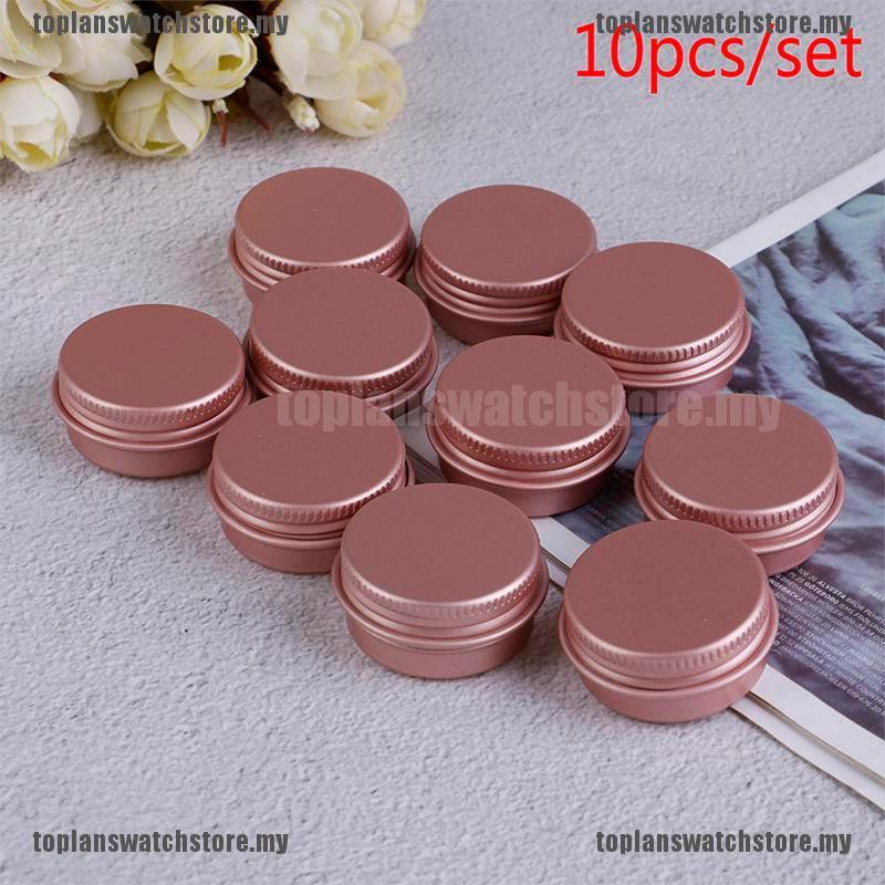 【STOCK+TOMY】10ps Empty Aluminum Pot Jars Cosmetic Containers With Lid Eye cream Aluminum box
