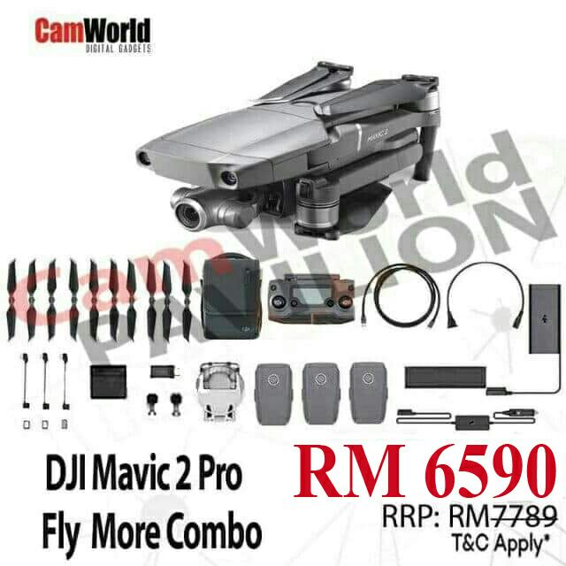DJI MAVIC 2 PRO FLY MORE COMBO BUNDLES PACKAGES FOR PROMOTION