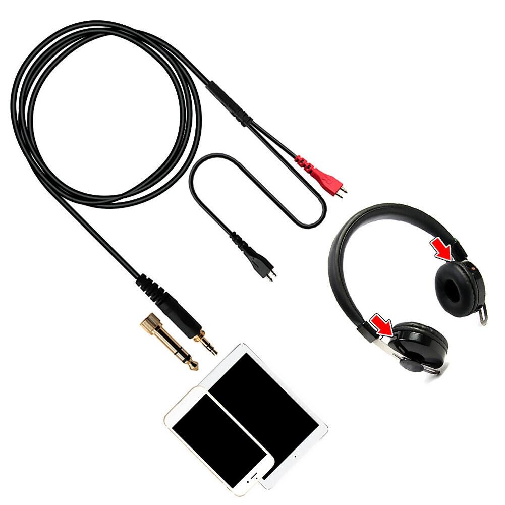 Replacement Audio Cable for Sennheiser HD480 HD490 HD520 HD530 HD540 HD560 II