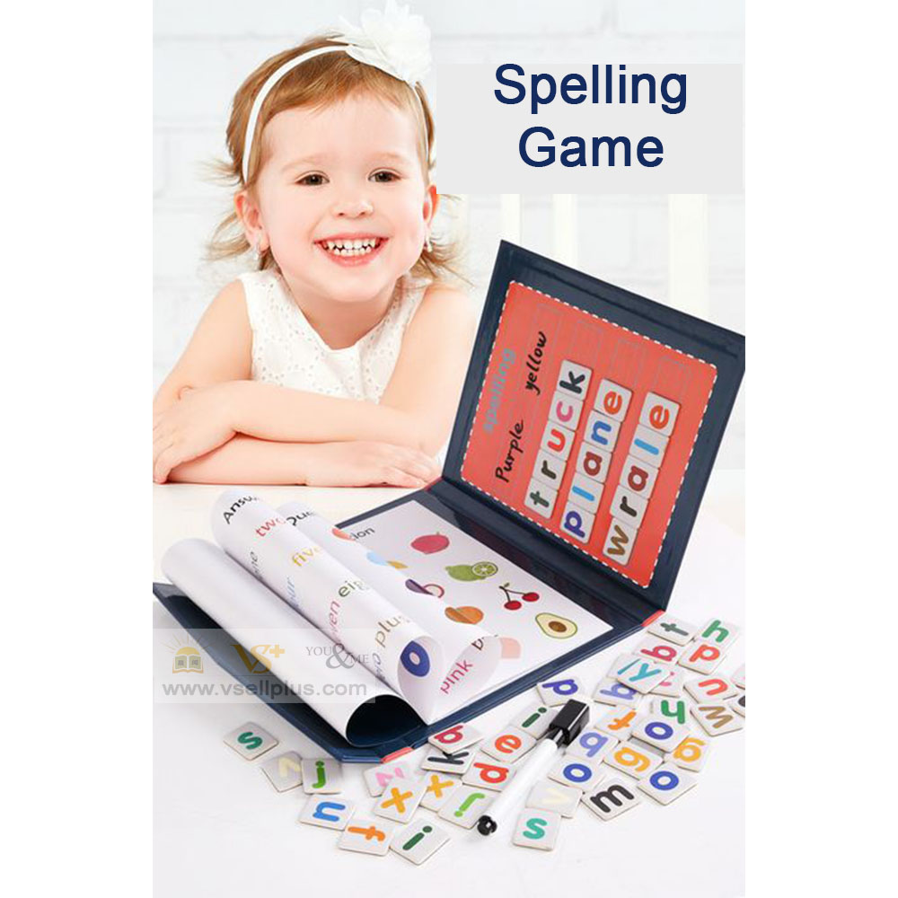 Ready Stock- Children Magnetic Word Spelling Game