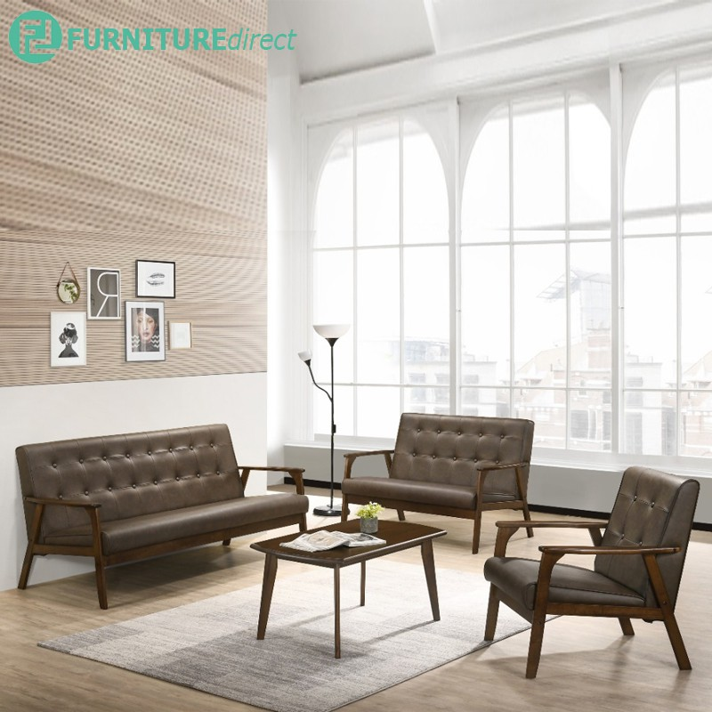 Furniture Direct GARETH full solid wood sofa set with coffee table