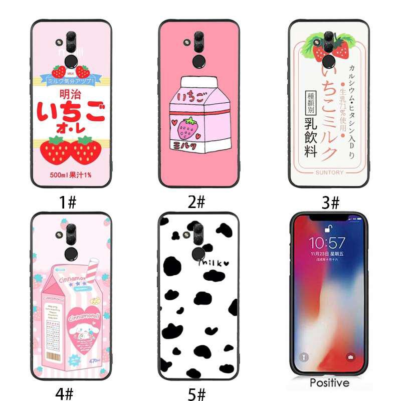 Summer Cute Strawberry Milk Huawei Mate20lite Mate20pro Y7pro Mobile Phone Case