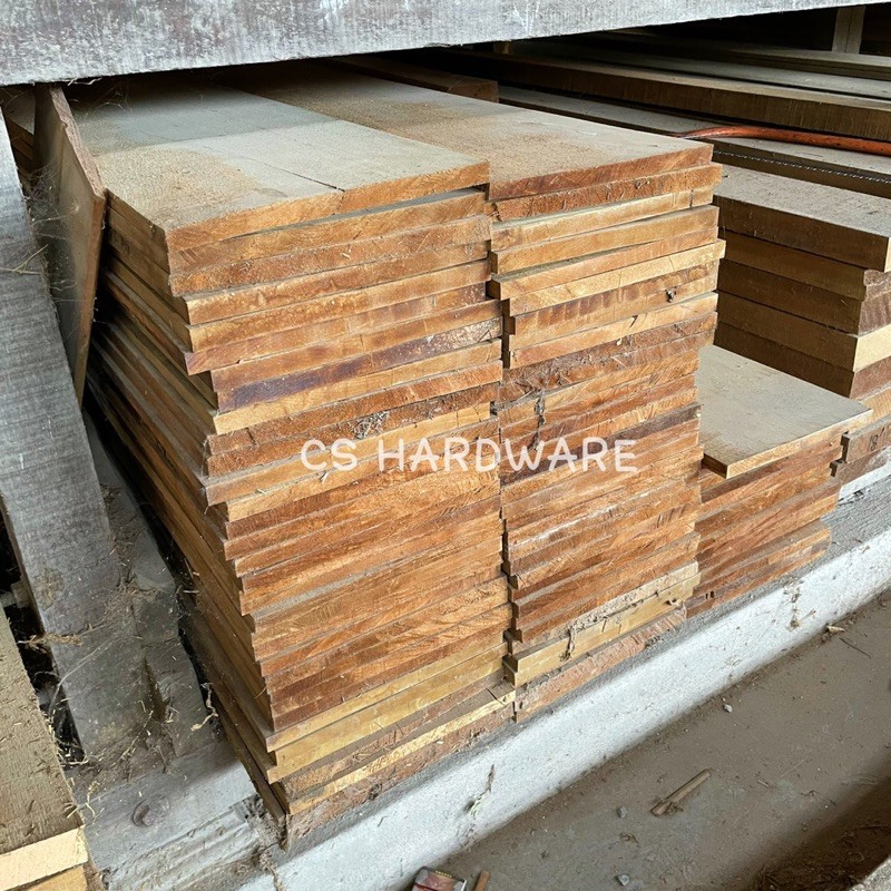 3/4'' x 10'' Solid Kayu Yellow Meranti Wood (Kayu Ubat) - Ketam 4 kaki