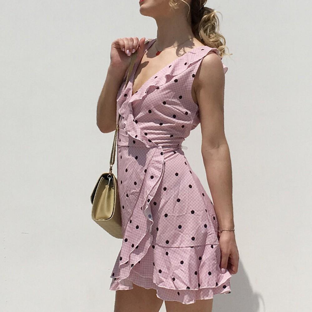 ☺ Loose Women's Casual Sleeveless Bandage Flowers Print Tank Shift Midi Dress