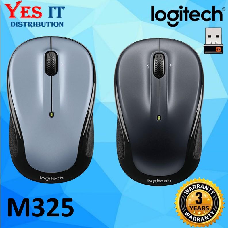 Logitech M325 Wireless Mouse (910-002325) Light Silver / Dark Silver