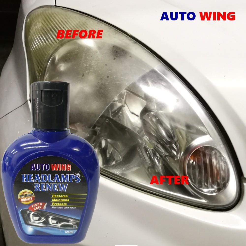 AUTO WING Car Headlamp Body Repair Renew Restore Maintain Polish Protect  Liquid Wax