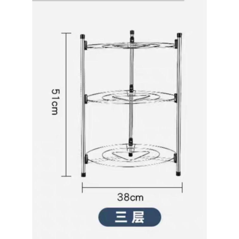 【Ready stock】Large 5 Tiers Stainless Organizer Rack Home Living Bathroom Kitchen Shelf Storage厨房置物架不锈钢落地式锅具二层转角收纳架台面多层三角