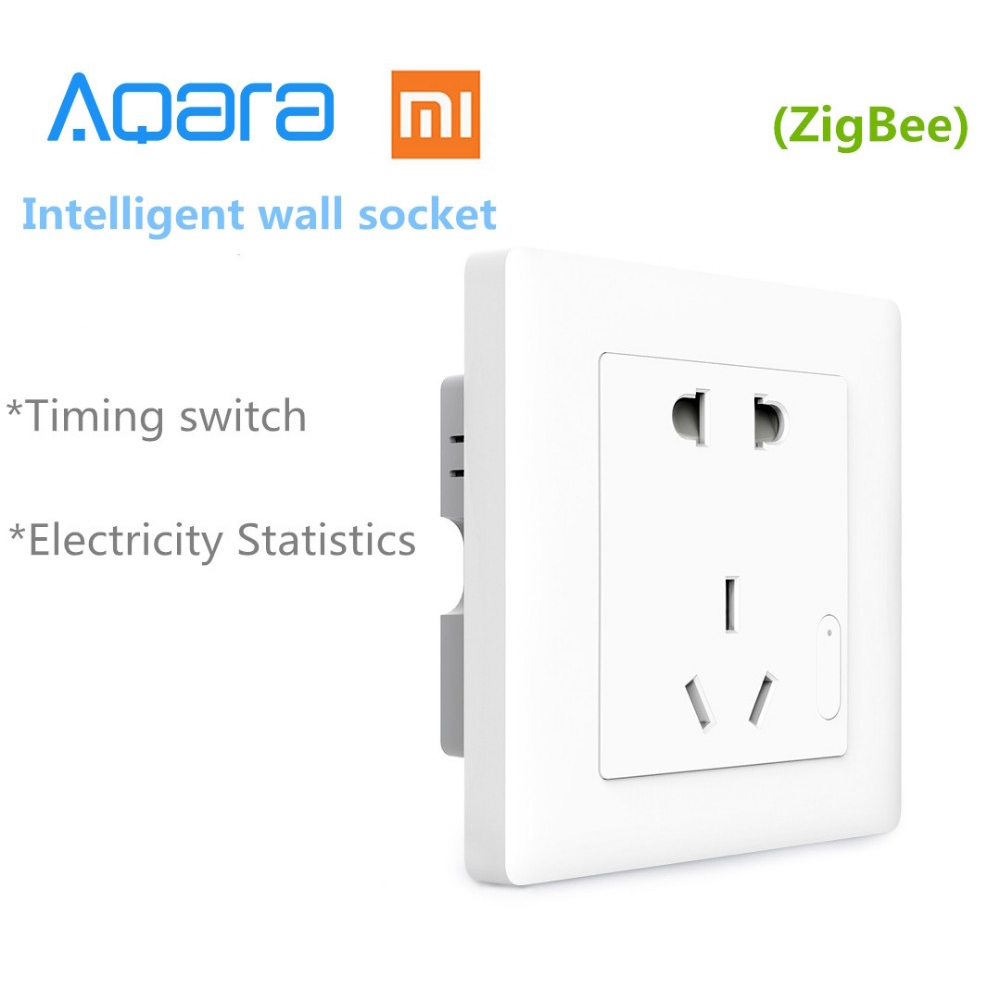 Xiaomi Samrt Aqara Wall Socket ZigBee Wireless Switch Work For Home Kits APP