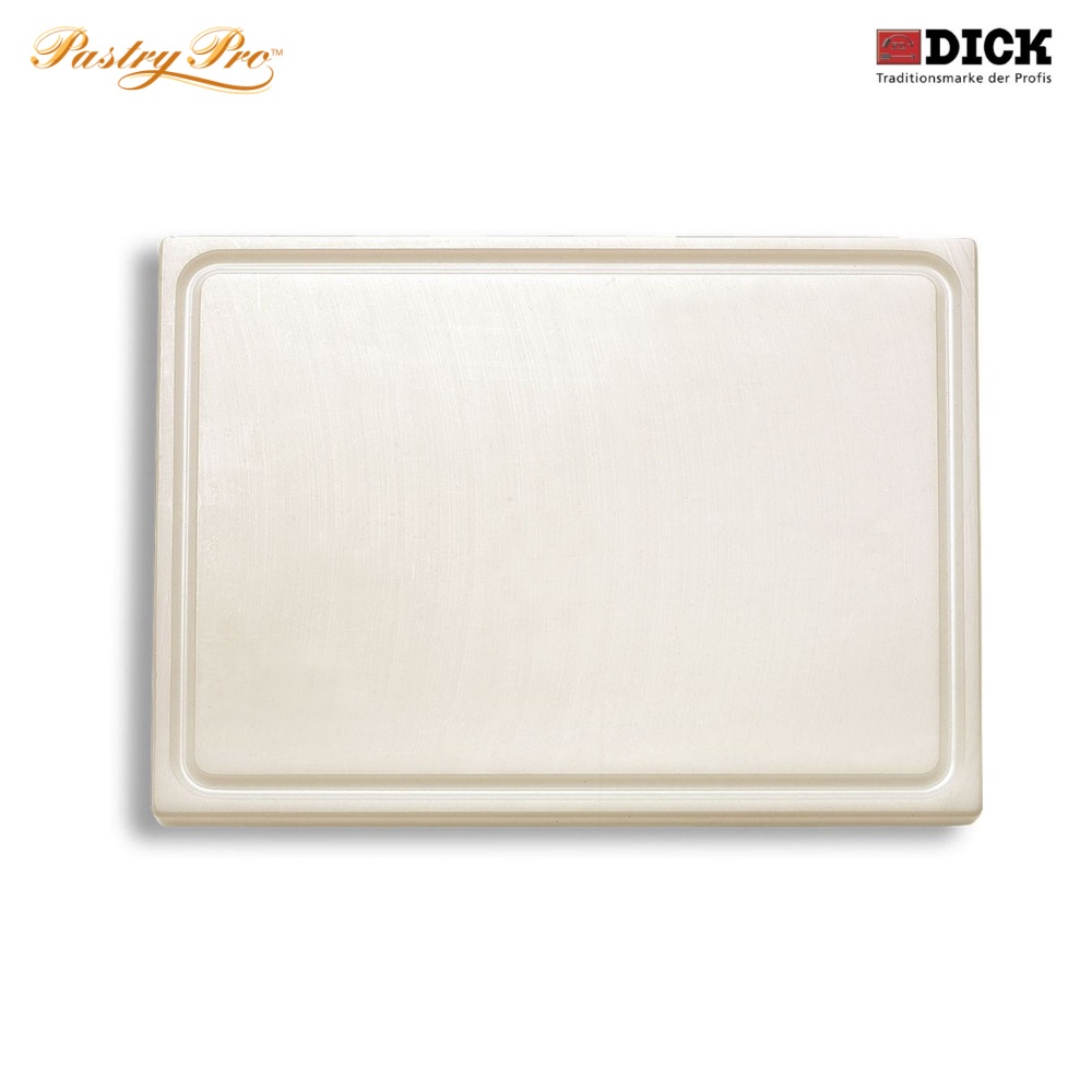F.DICK, Cutting Board - with juice groove, HACCP Colour Coded, White