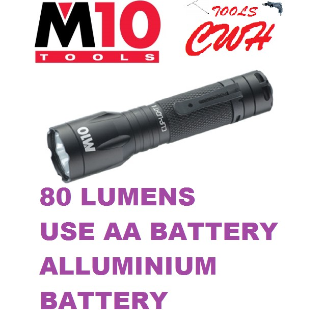 LE-112 80LUMENS AA BATTERY M10 ALUMINIUM BODY 1W CLIP LIGHT II FLASHLIGHT TORCHLIGHT NICRON