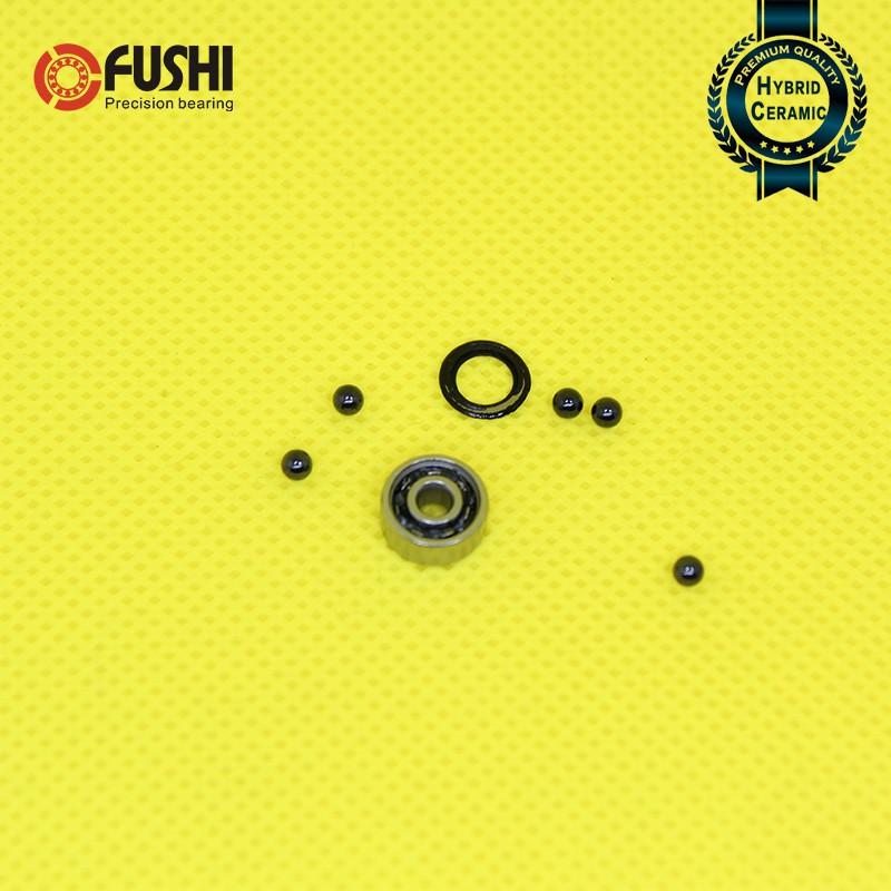 10 Pcs 3x10x4 mm Rubber Ball Bearing Bearings YELLOW 3 10 4 623RS 623-2RS