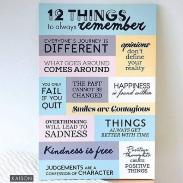 FRAME 12 THINGS TO REMEMBER | Shopee Malaysia -. Source · Frame Motivasi Do All