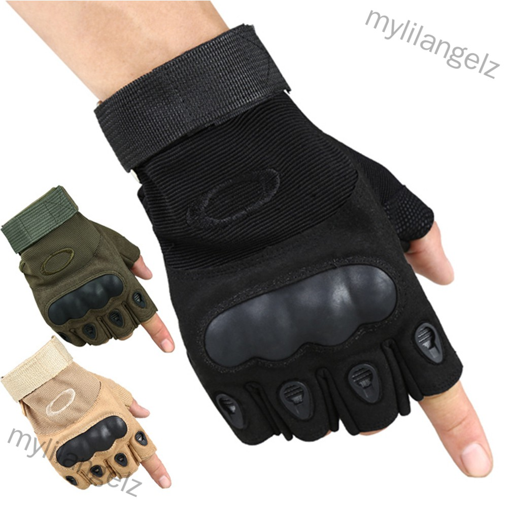 Mylilangelz Antiskid Tactical Half Finger Gloves Combat Sports Training Fitness Fingerless Gloves