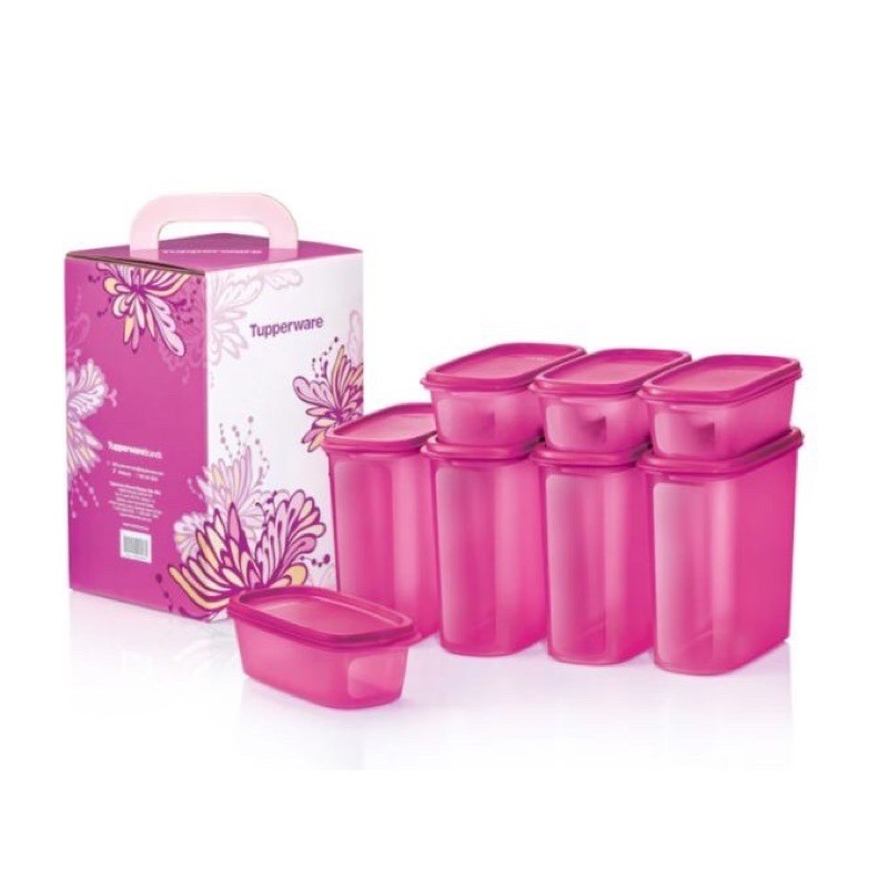 Tupperware Pink Smart Saver Oval Set (8pcs)