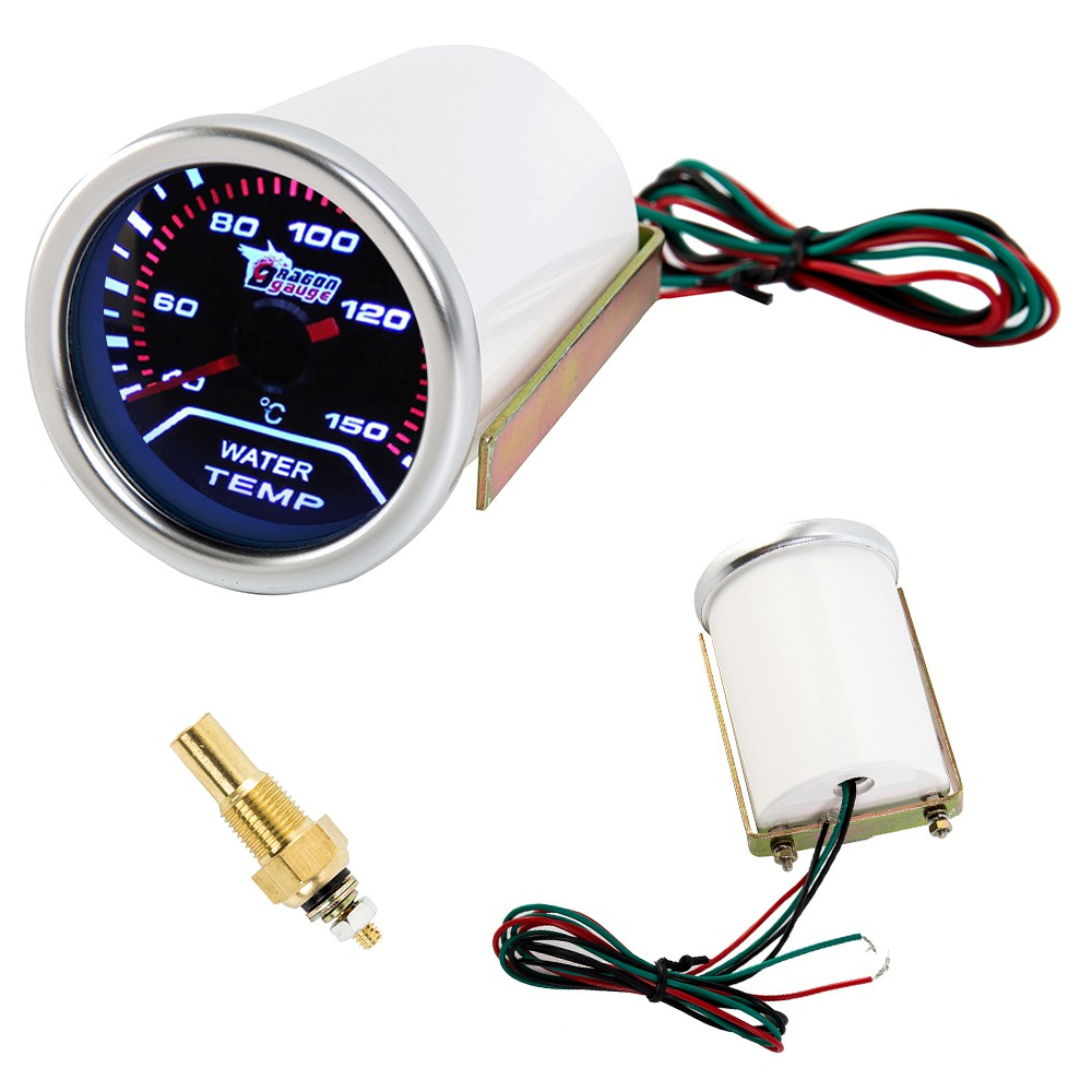 """2/"""" 52mm Smoked Digital LED Water Temp Temperature Celsius Gauge Car Thermometer"""