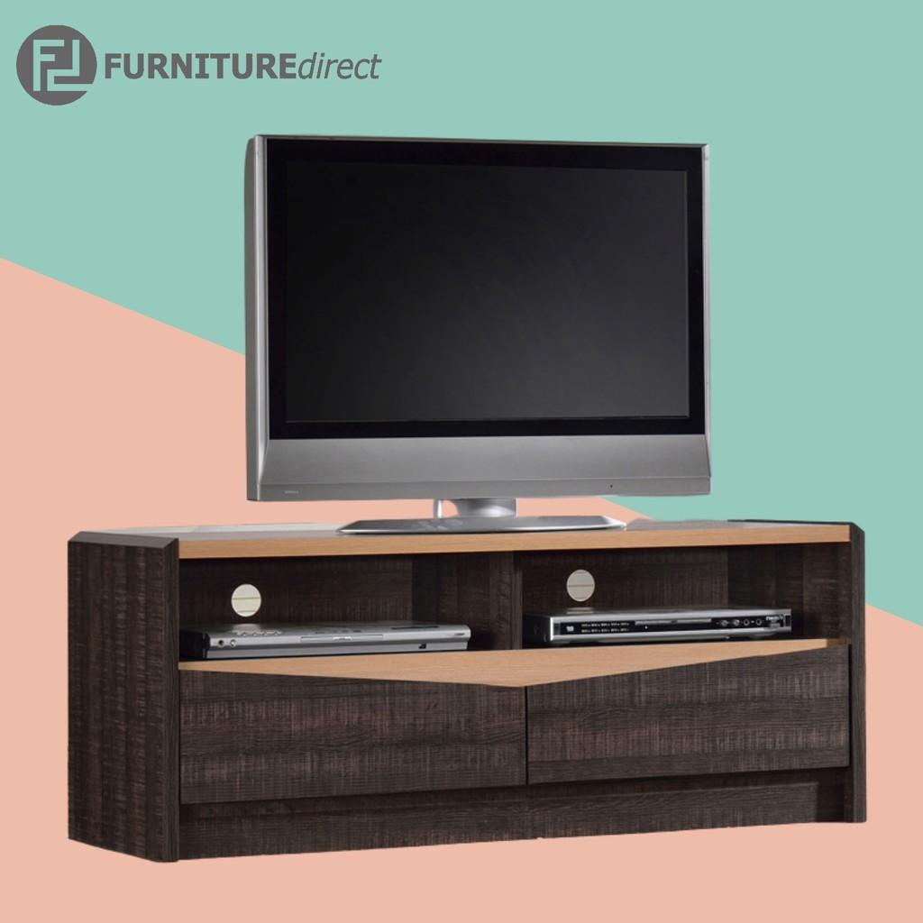 LEENA 4 feet tv cabinet with 2 drawers/ kabinet tv/ rak tv/ rak tv 4ft