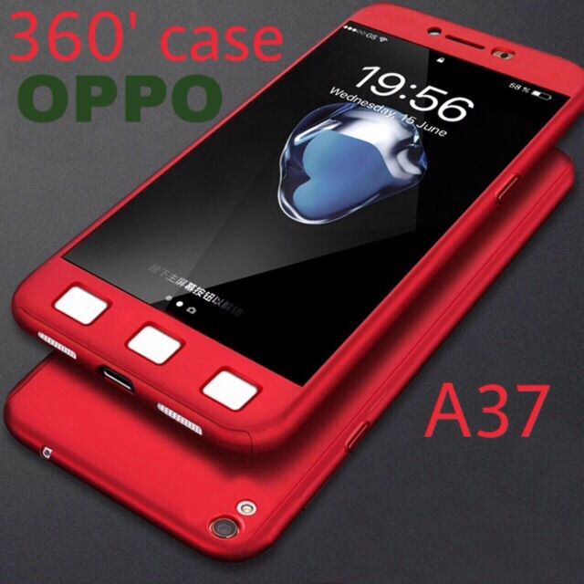 the best attitude 9c85a 45e01 OPPO A37【360° Full Cover Protect】 with Screen Protector Casing