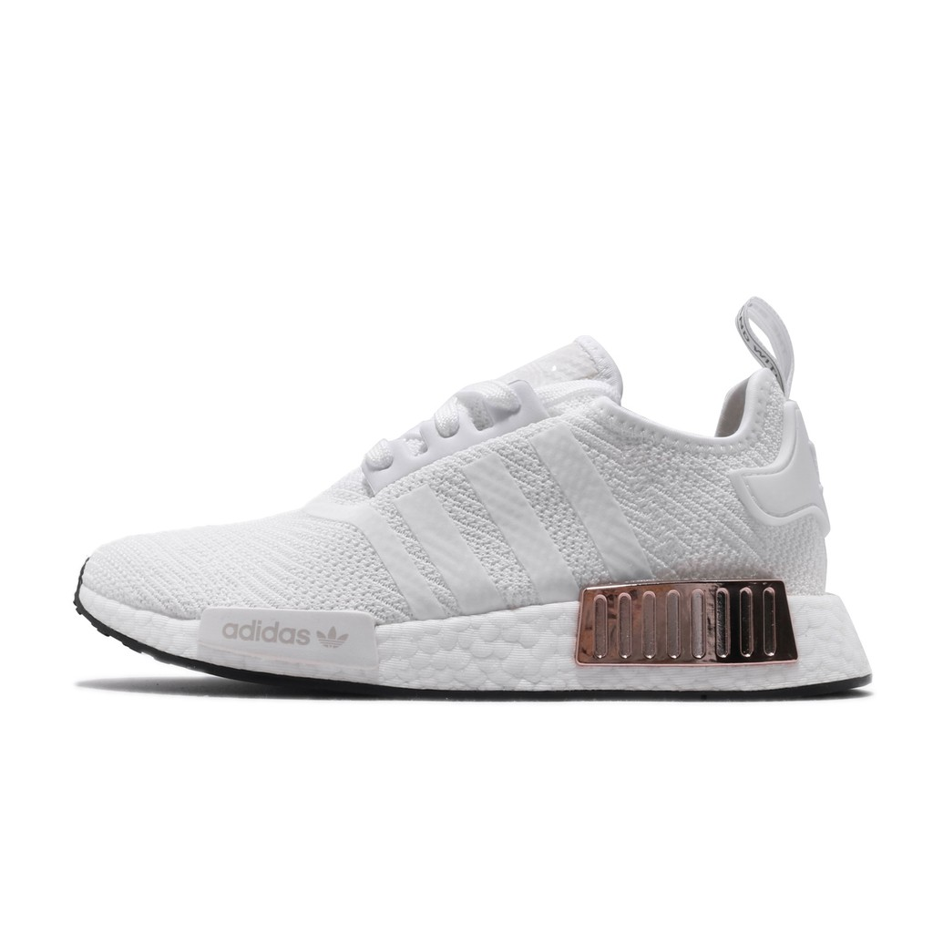 Adidas Nmd R1 W White Gold Shoes Sneakers Shopee Malaysia