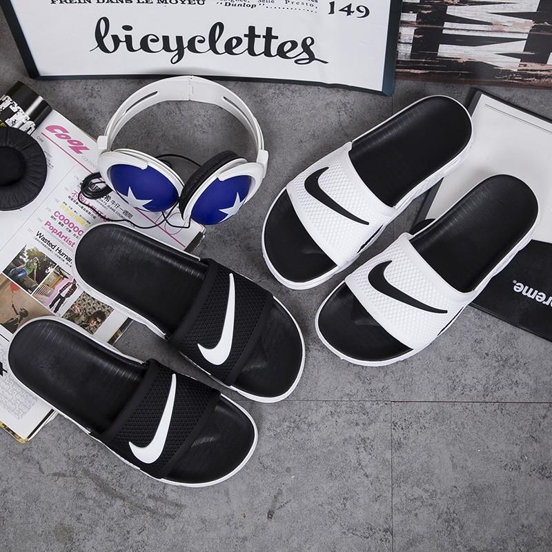 sale retailer 5d925 9547e Ready Stock Couple Fashion Nike Cushion Slippers Waterproof Men&Women Flip  Flops Kasut Fesyen Selipar Pantai