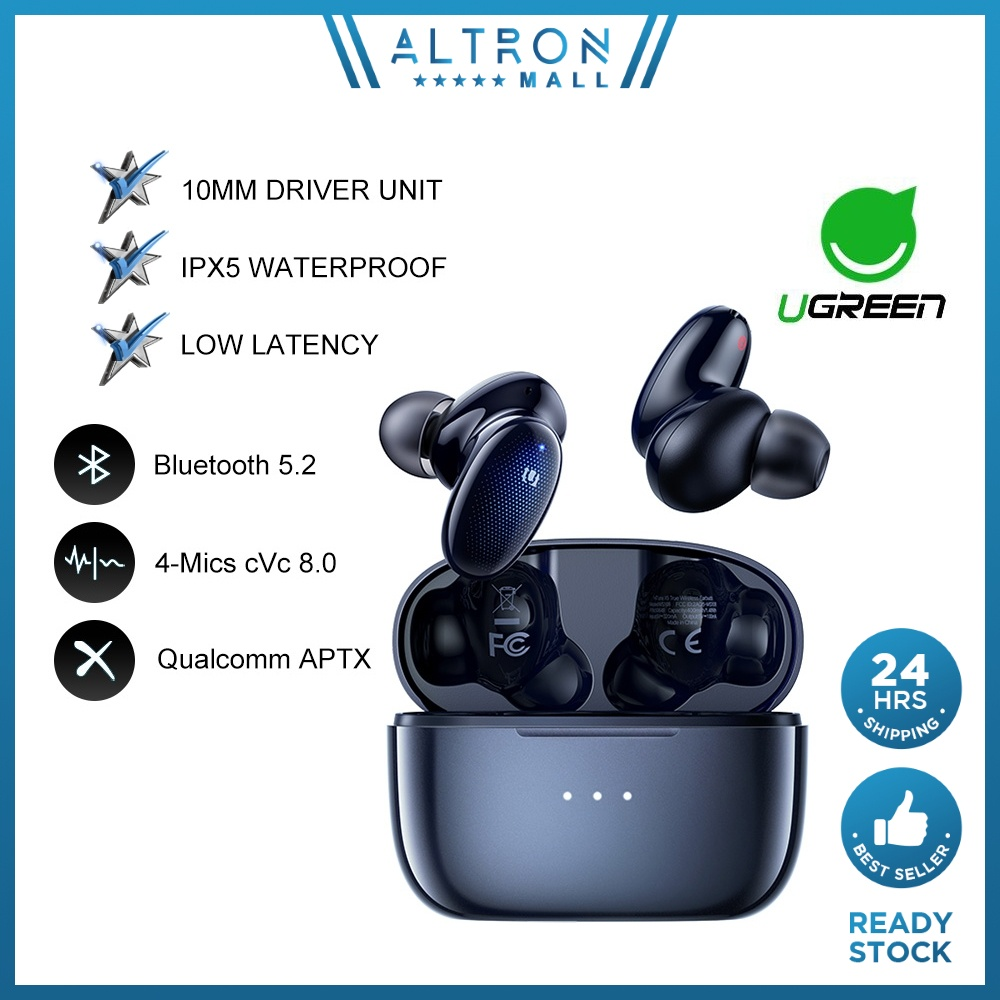 UGREEN HiTune X5 Wireless Earbuds Bluetooth 5.2 in-Ear Headphones aptX Bluetooth Earbuds with 4 Mics for iPhone Android