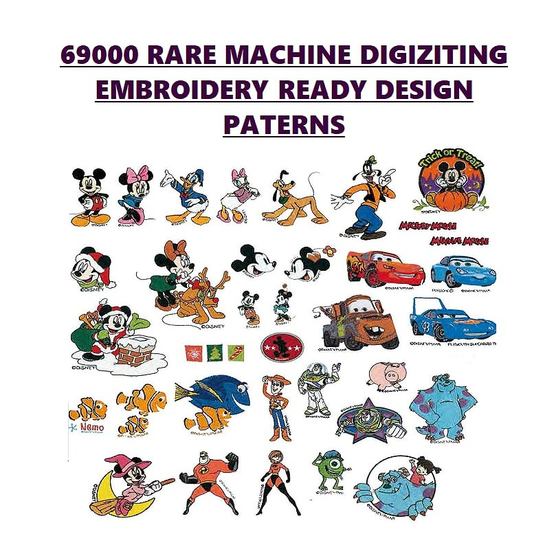 50000 Rare Embroidery Designs For Brother Pe Design Pes Ready Paterns Shopee Malaysia