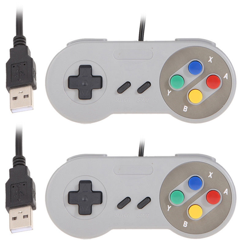 Good value for money 2Pcs Game Controller for Super SNES USB Classic Gamepad