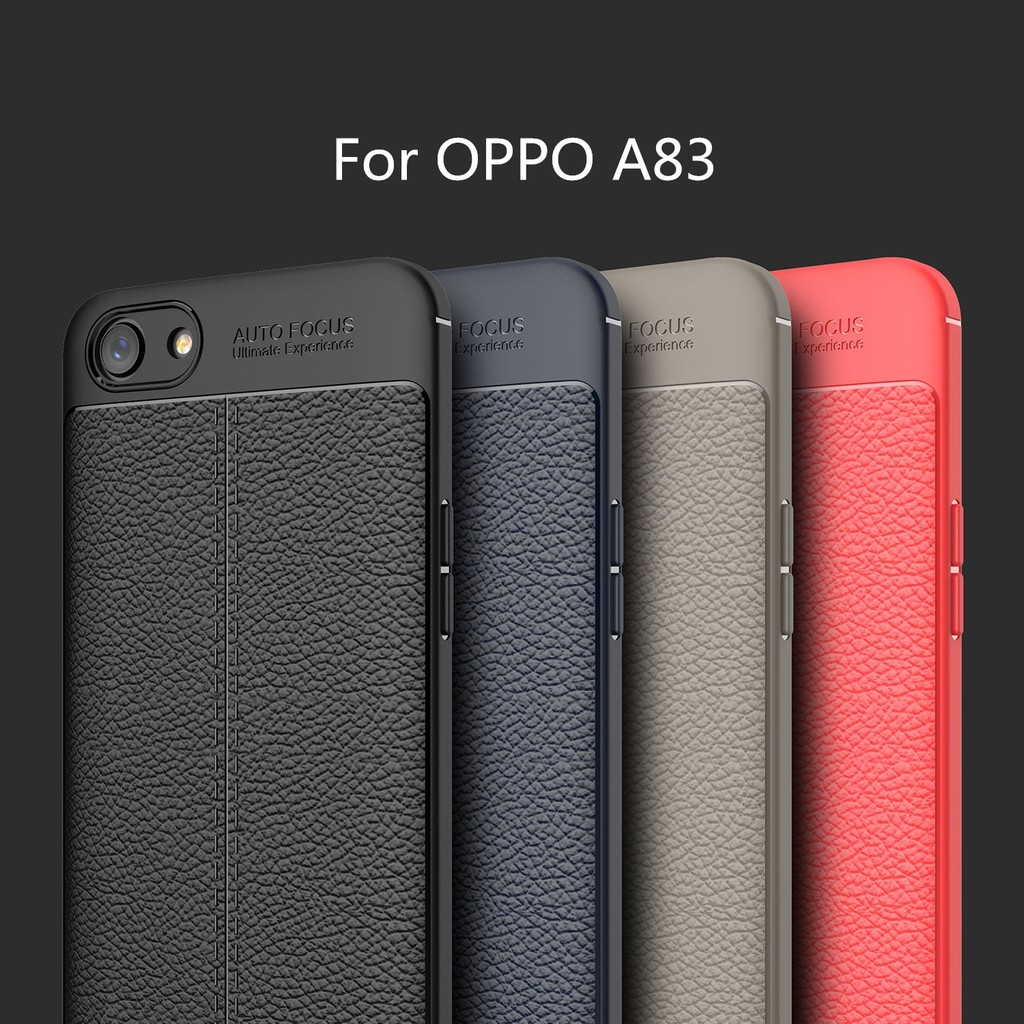 OPPO A83 Case Litchi TPU Rugged Phone Case For OPPO A83 Cover | Shopee Malaysia