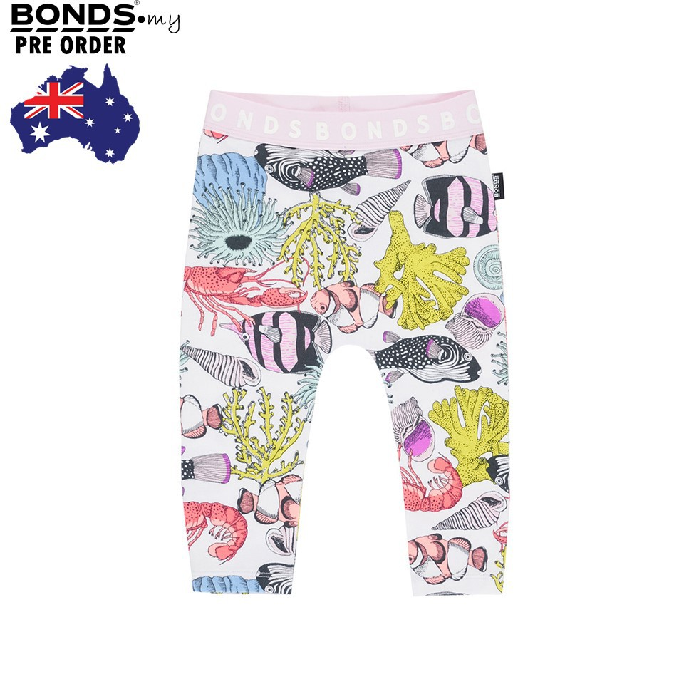 Bonds Stretchies Leggings Tomorrow Floral White