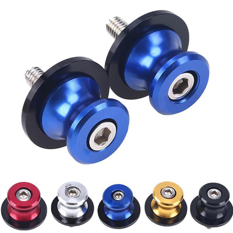 Swing Arm Spool 2PCS 6//8//10mm Motorcycle CNC Rear Stand Swing Arm Spool Sliders Stand Swingarm Bobbins 6mm Blue