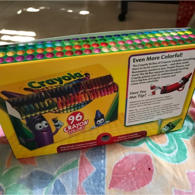crayola 96 crayon colours shopee malaysia