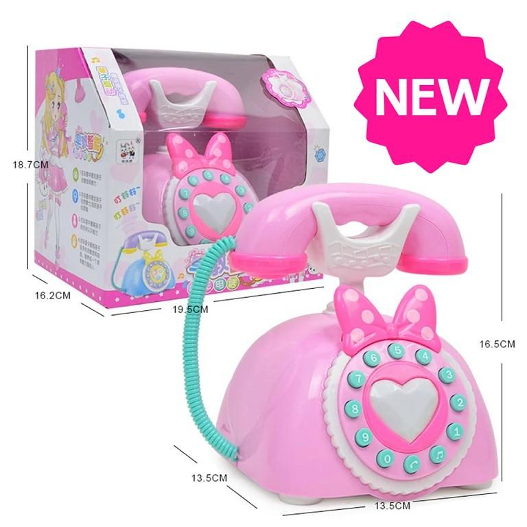 [ READY STOCK ]  Vintage Telephone Pretend Play Early Educational Toy Phone Kid Budak Baby Mainan Girl Jualan Murah Boy